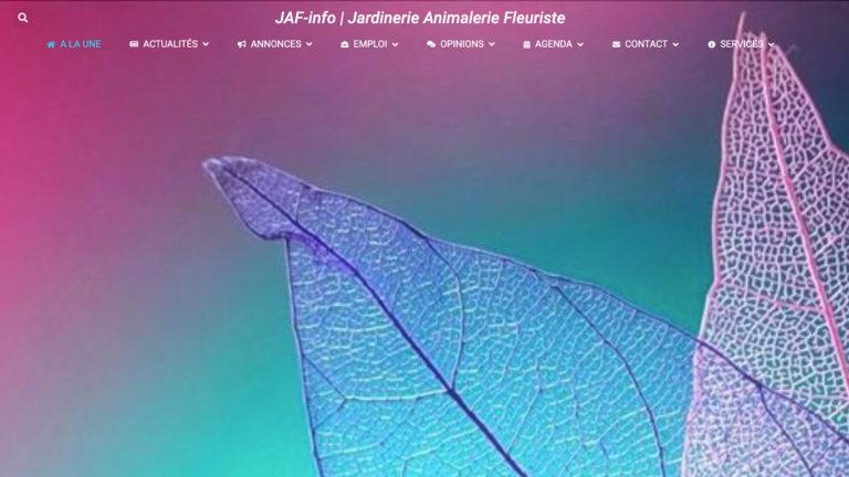 Page d'accueil du site JAF