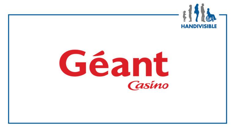 Handivisible en test chez geant casino